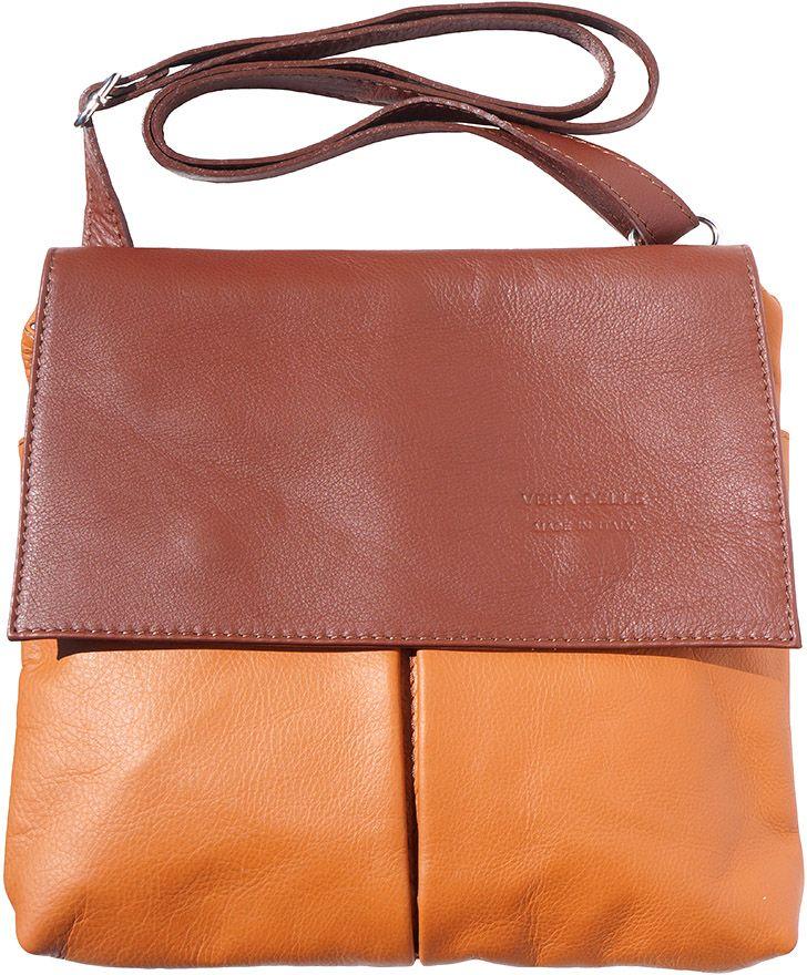 Τσαντα Ωμου Δερματινη Oriana Firenze Leather 2086 Μπεζ Καφε 79381ca2c04