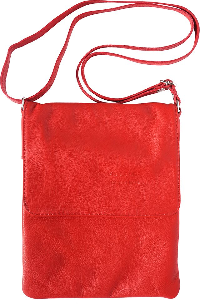 Δερματινη Τσαντα Ωμου Vala Firenze Leather 414 Κόκκινο 211722eed05