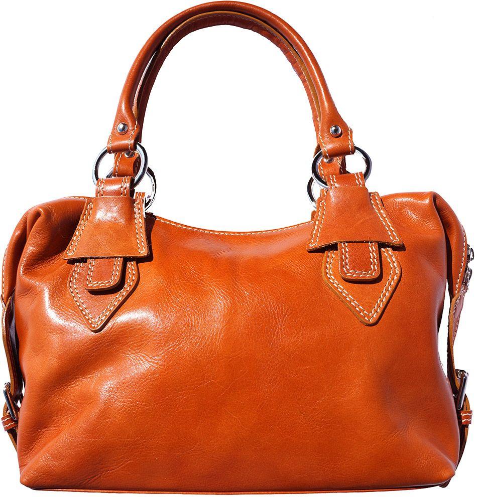 Δερμάτινη Τσάντα Χειρός Ornella Firenze Leather 6529 Μπεζ