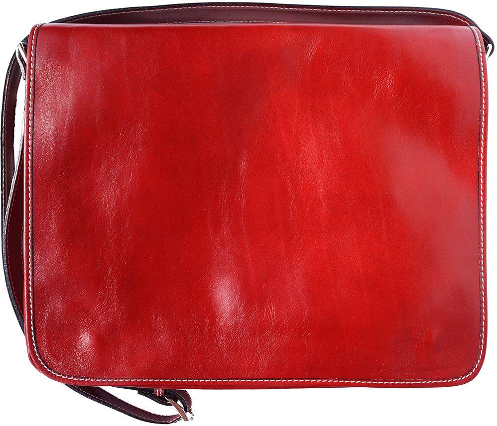Τσάντα Ταχυδρόμου Δερματινη Firenze Leather 6555 Κόκκινο ανδρας   χαρτοφύλακες