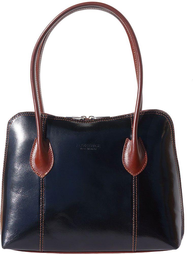 Δερμάτινη Τσάντα Ωμου Claudia Firenze Leather 216 Μαύρο/Καφε γυναίκα   τσάντες ώμου   χειρός