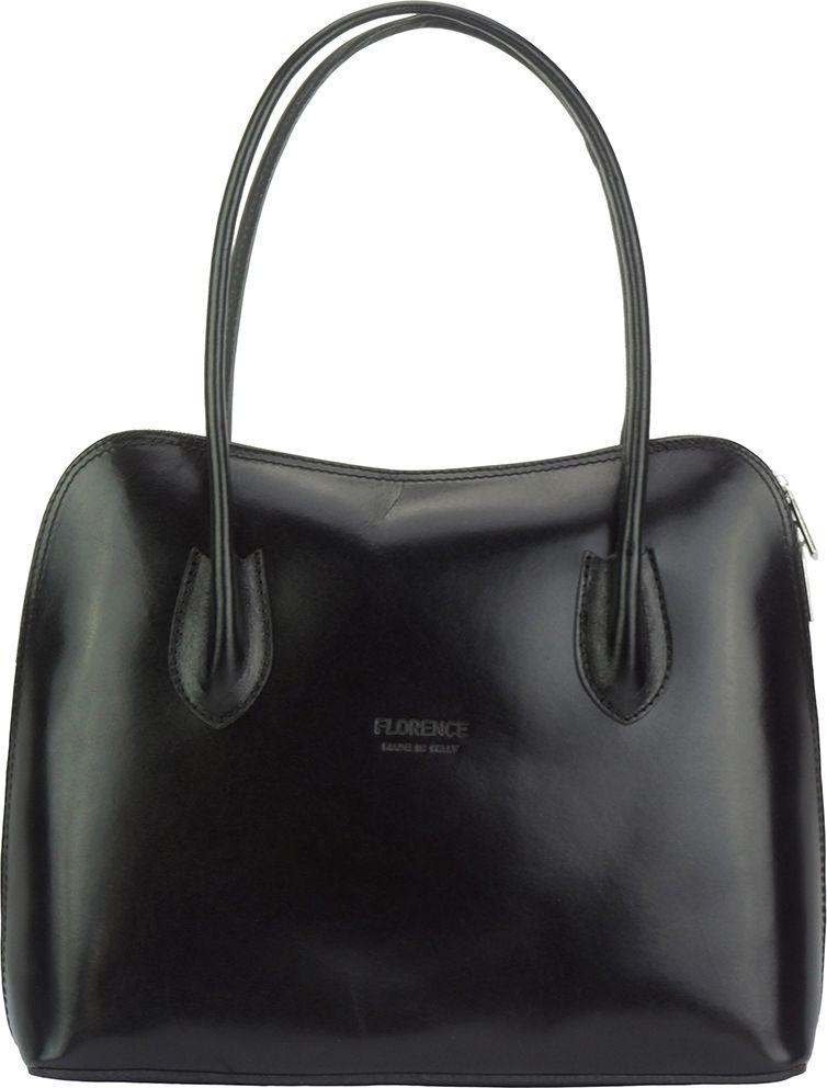Δερμάτινη Τσάντα Ωμου Claudia Firenze Leather 216 Μαύρο γυναίκα   τσάντες ώμου   χειρός
