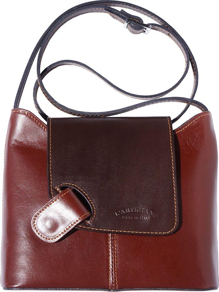 a47cc94d3a4 Γυναικεια Τσαντα Ωμου Firenze Leather 209 Καφε/Σκουρο Καφε