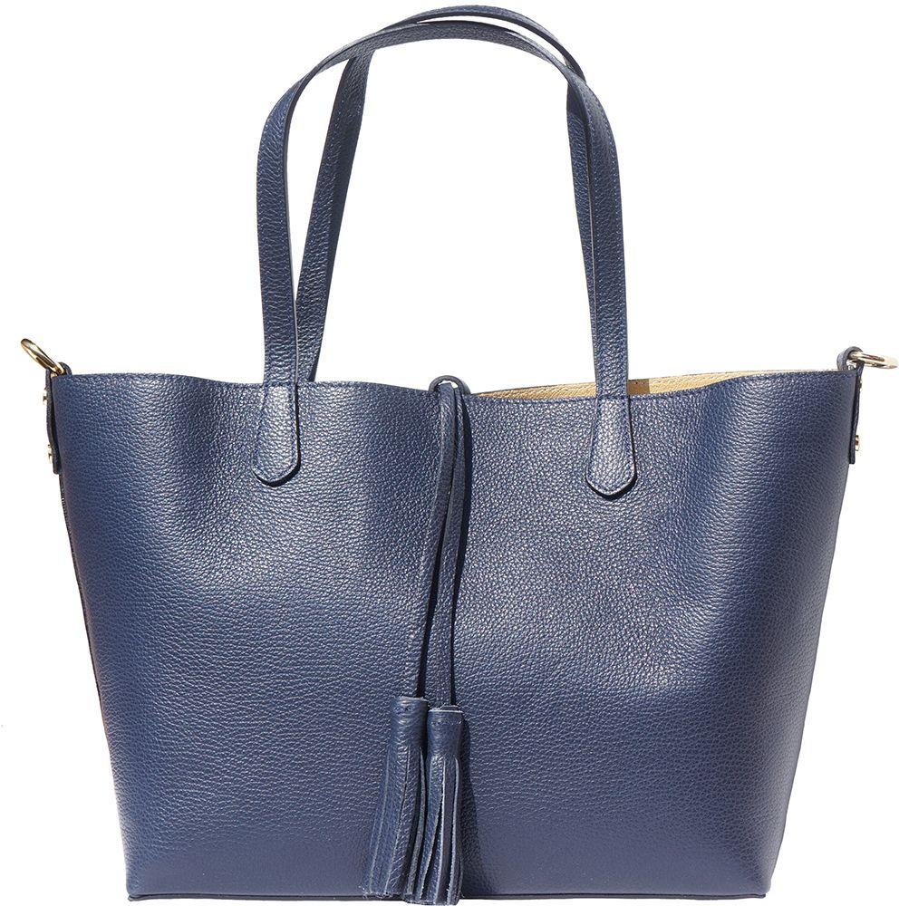Δερματινη Τσαντα Ωμου Belinda Firenze Leather 8063 Σκουρο Μπλε γυναίκα   τσάντες ώμου   χειρός