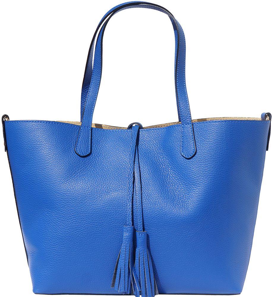 Δερματινη Τσαντα Ωμου Belinda Firenze Leather 8063 Μπλε 95ce44d9042