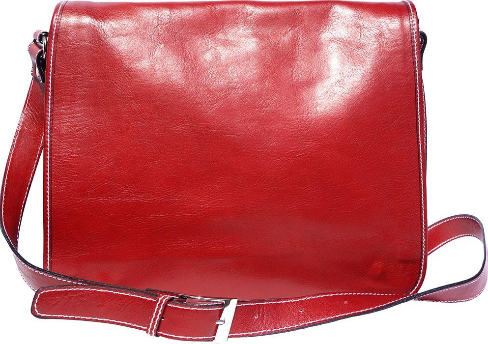 01b378965e Δερματινη Τσαντα Ταχυδρομου Mirko GM Firenze Leather 6517 Κόκκινο