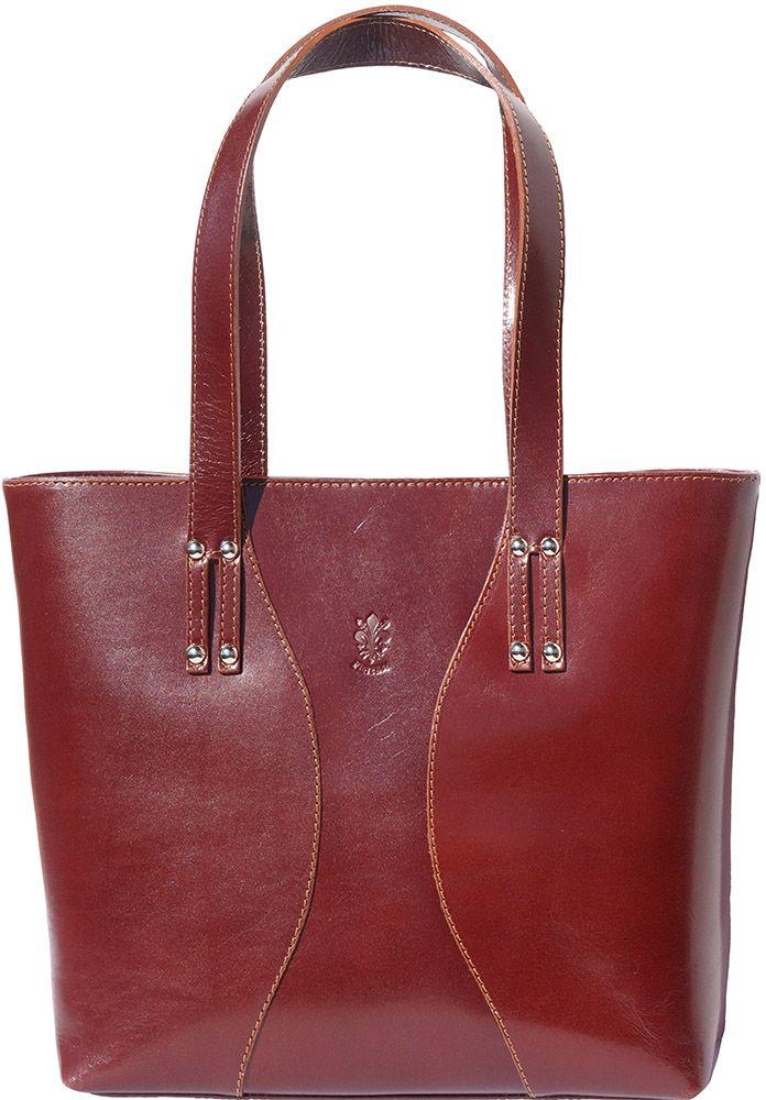 Τσαντα Ωμου Δερματινη Maddalena Firenze Leather 205 Καφε e6b86eca04e