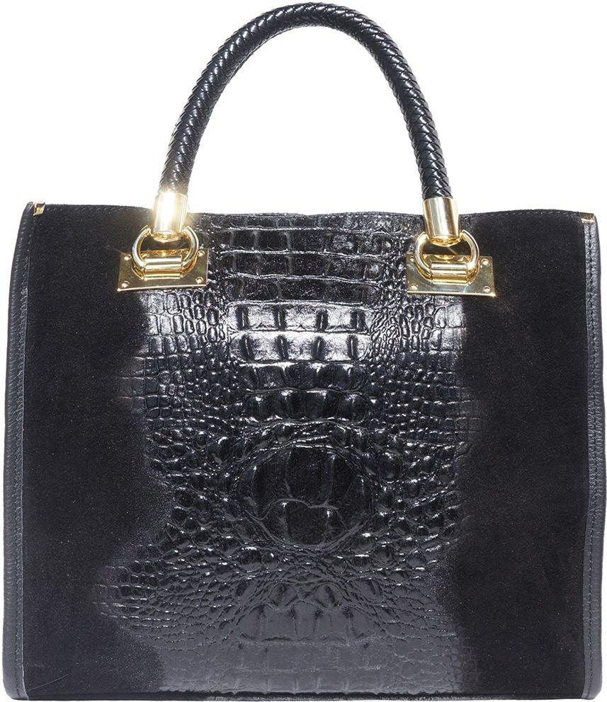 Δερμάτινη Τσαντα Tote Χειρος Firenze Leather 7004 Μαύρο γυναίκα   τσάντες ώμου   χειρός