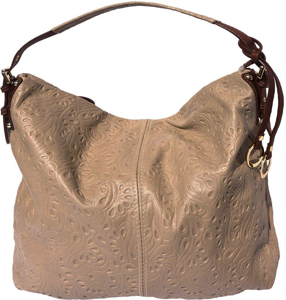 Δερματινη Τσαντα Ωμου Debora Firenze Leather 8001s Σκουρο Μπεζ Καφε ... 076d32f070e