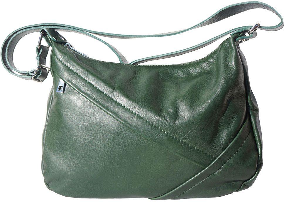 88858bcac0d Δερμάτινη Τσάντα Ωμου Giada Firenze Leather 3014 Σκουρο Πρασινο