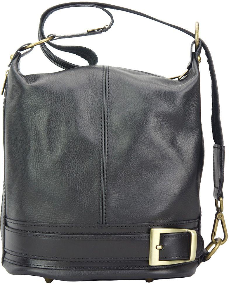 Γυναικεια Δερματινη Τσαντα Ωμου Caterina Firenze Leather 300 Μαύρο γυναίκα   τσάντες ώμου   χειρός