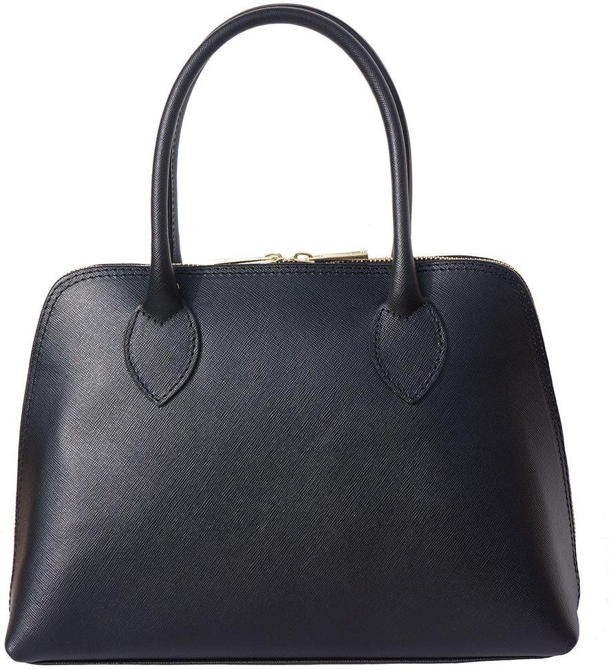 Δερμάτινη Τσάντα Χειρός Giulia Firenze Leather 304 Μαύρο γυναίκα   τσάντες ώμου   χειρός