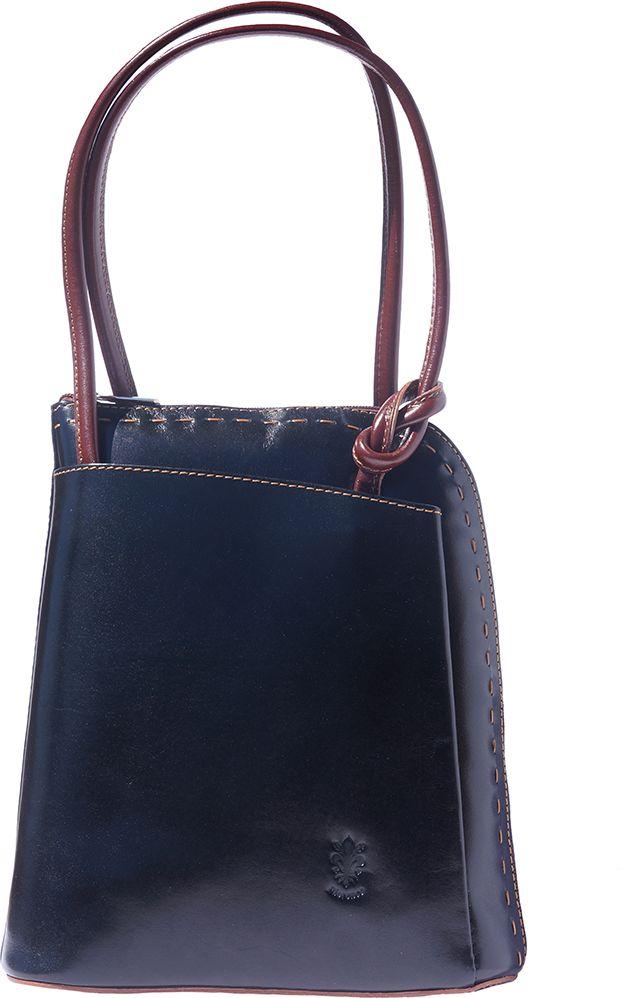 382dc48dd8 Δερματινη Τσαντα Ωμου   Πλατης Daria Firenze Leather 210 Μαύρο Καφε