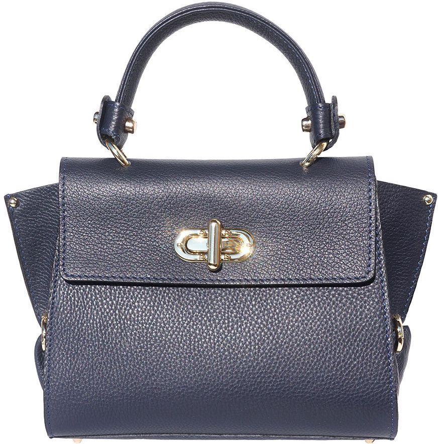 ed141c3e93bf Δερμάτινη Τσάντα Χειρός Sofia Firenze Leather 9134 Σκουρο Μπλε