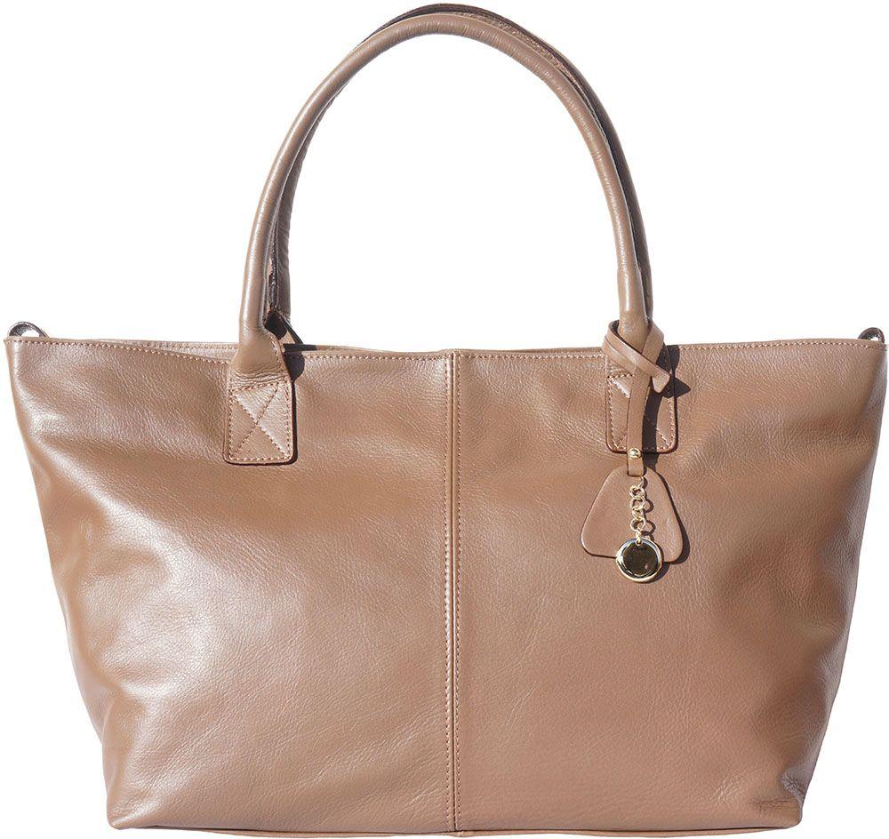 5aec5974c6 Δερμάτινη Τσάντα Tote Vincenza Firenze Leather 3015 Σκουρο Μπεζ