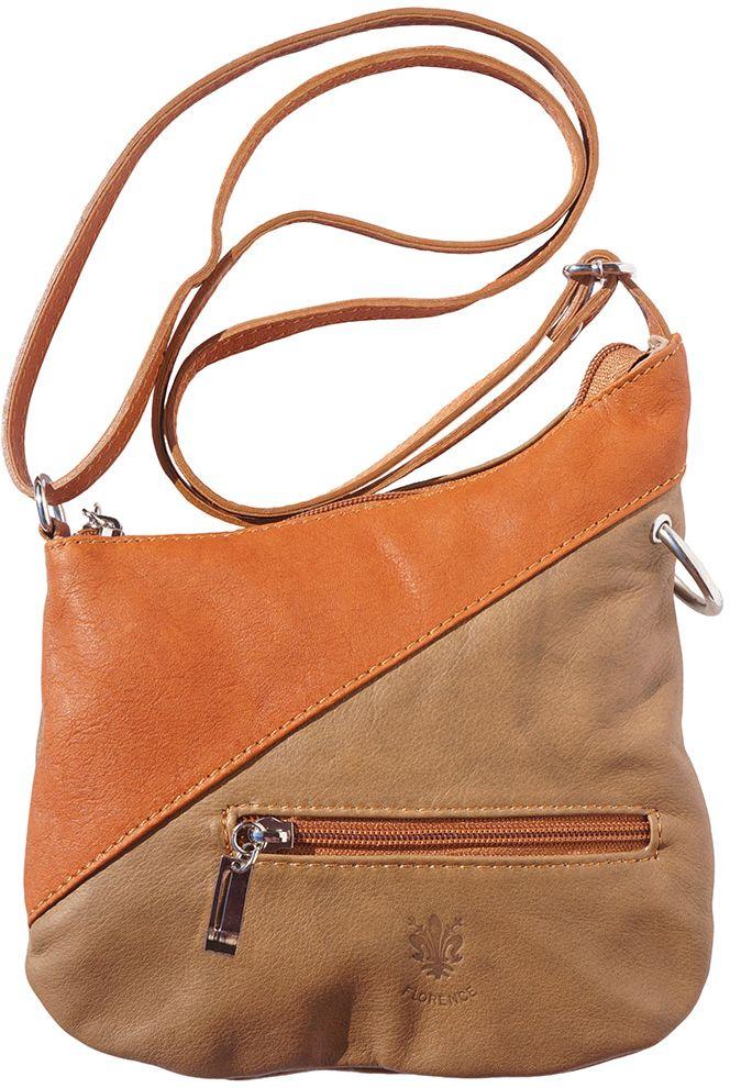 2384ac021f Δερμάτινο Τσαντακι Ωμου Licia Firenze Leather 401 Σκουρο Μπεζ Καφε