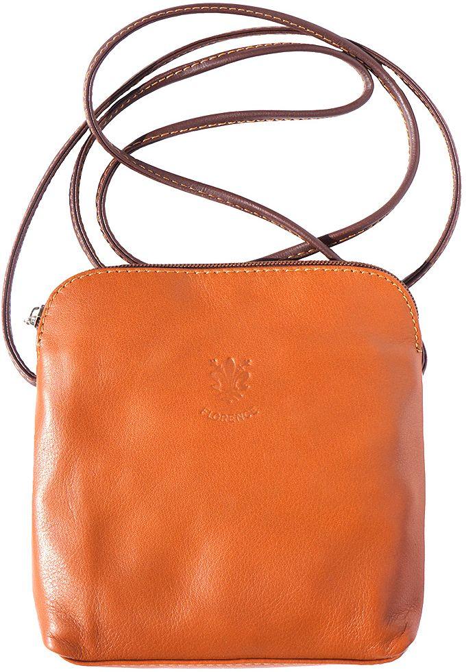 Δερματινο Τσαντακι Ωμου Mia Firenze Leather 8609 Μπεζ Καφε c95989bb790