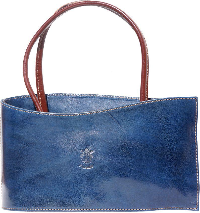 Τσαντα Χειρός Δερμάτινη Nano Firenze Leather 206 Σκουρο Μπλε Καφε ... 7c190a6088f