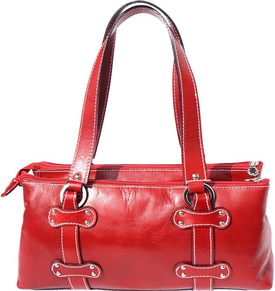Δερμάτινη Τσάντα Ώμου 3 Θέσεων Firenze Leather 6541 Κόκκινο γυναίκα   τσάντες ώμου   χειρός