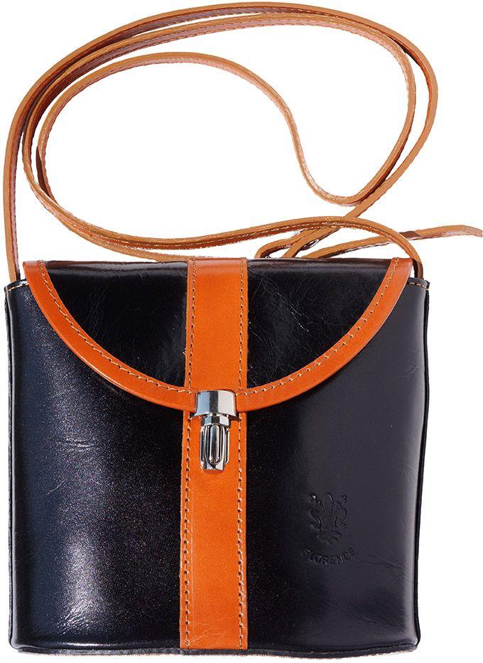 5a7ff8fe48 Τσαντακι Ωμου Δερματινο Firenze Leather 202 Μαύρο Μπεζ