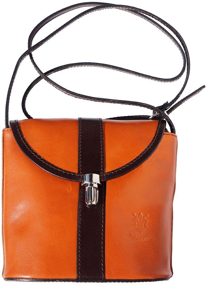 db9e8f77fc Bagz Τσαντακι Ωμου Δερματινο Firenze Leather 202 Μπεζ  Σκουρο Καφε