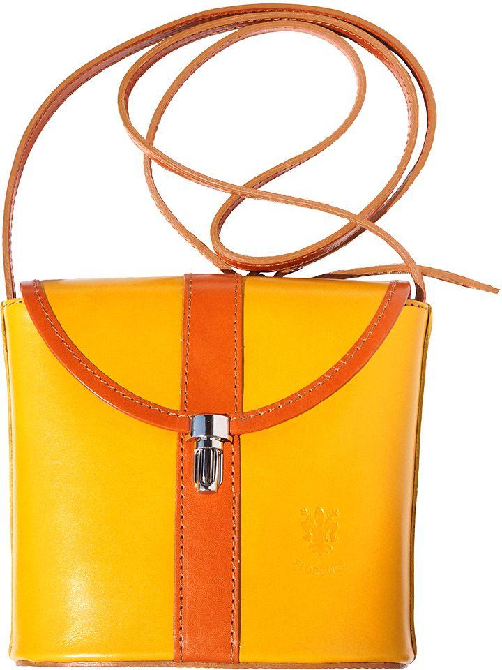 00db7595d7 Τσαντακι Ωμου Δερματινο Firenze Leather 202 Κιτρινο  Μπεζ