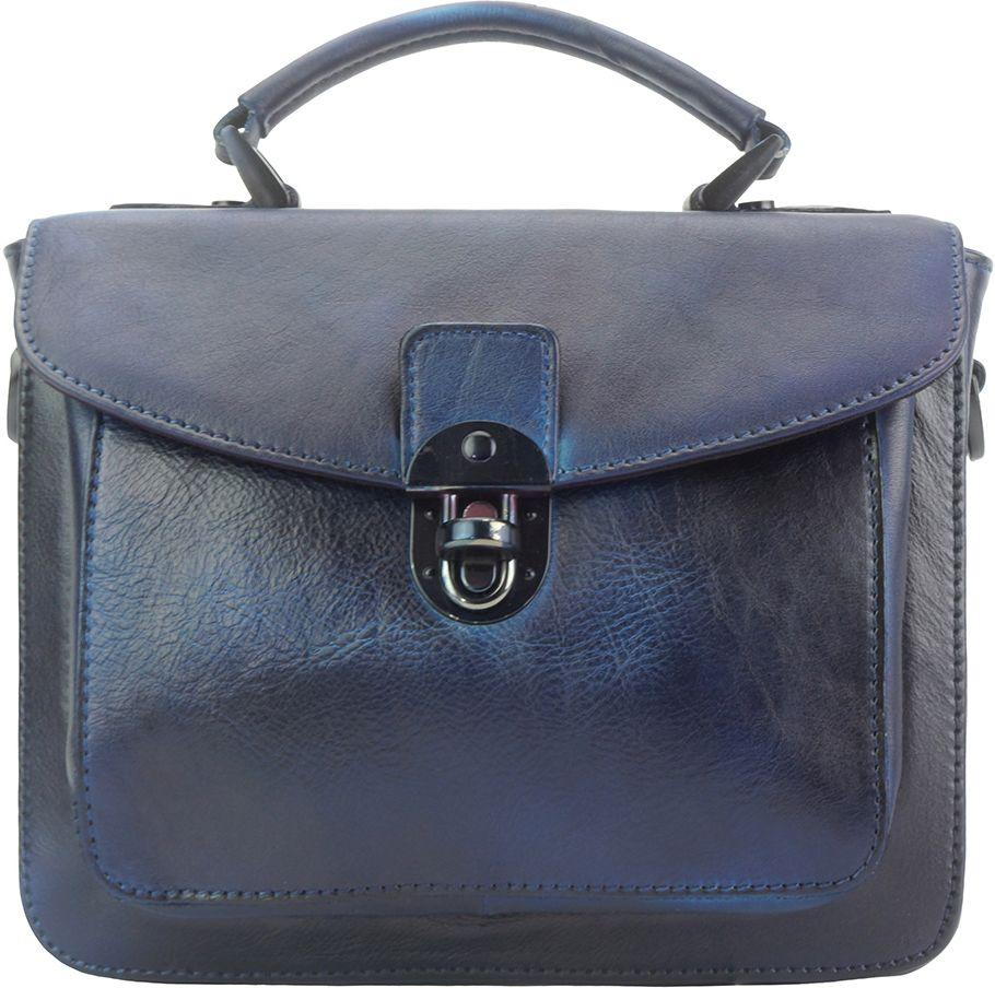 Δερμάτινη Τσάντα Χειρός Montaigne GM Firenze Leather 68071 Σκουρο Μπλε c3417e0a388