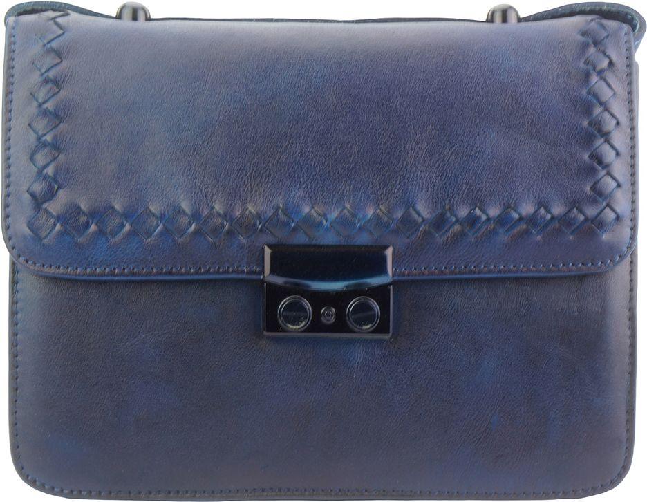 d0f883d6dc Γυναικειο Δερματινο Τσαντακι Ωμου Kleber Firenze Leather 68099 Σκουρο Μπλε