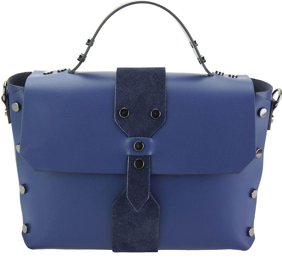 dd42614ccc Δερμάτινη Τσάντα Χειρός Rossella Firenze Leather 8053 Σκουρο Μπλε