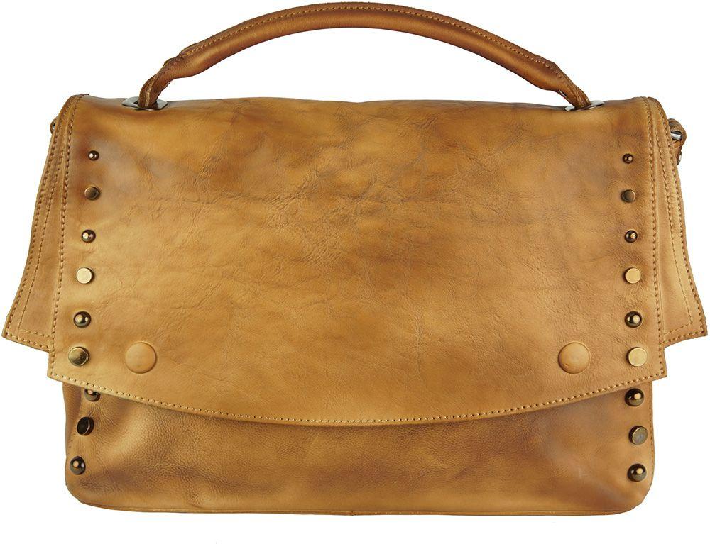 c9fe863d30 Δερματινη Τσαντα Ταχυδρομου Natalina Firenze Leather 68116 Μπεζ