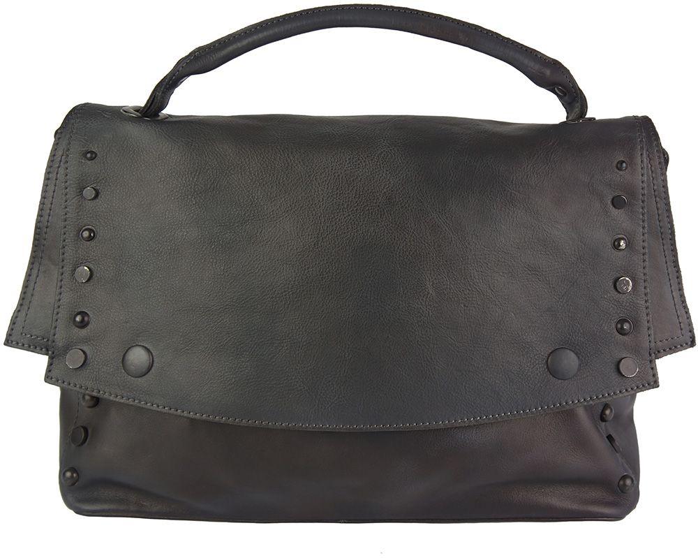 Δερματινη Τσαντα Ταχυδρομου Natalina Firenze Leather 68116 Μαύρο γυναίκα   τσάντες ώμου   χειρός