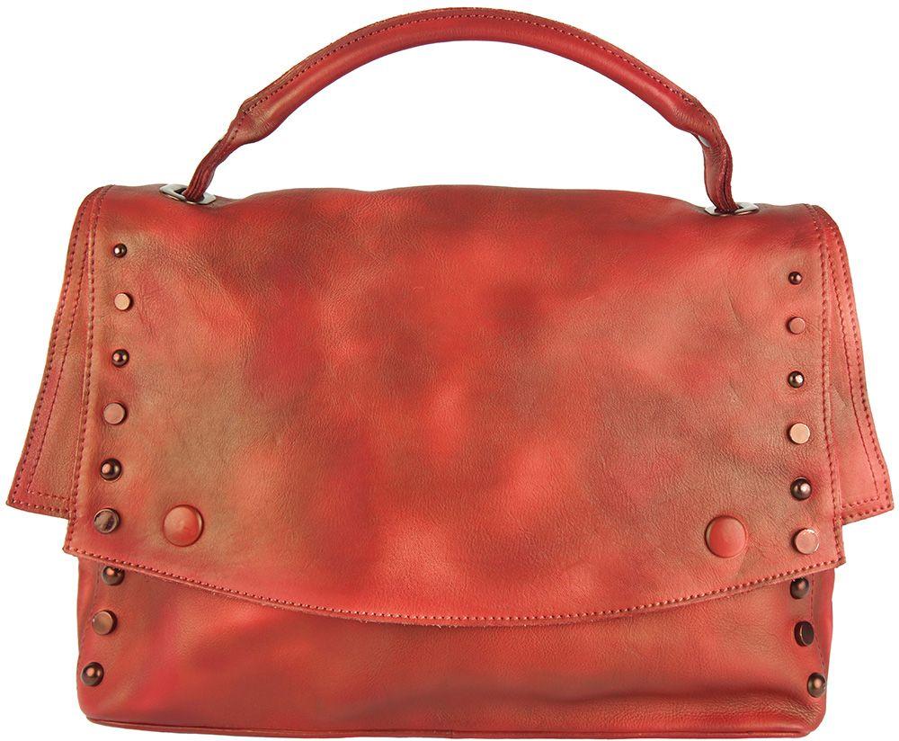 86eb10f5df Δερματινη Τσαντα Ταχυδρομου Natalina Firenze Leather 68116 Κόκκινο ...