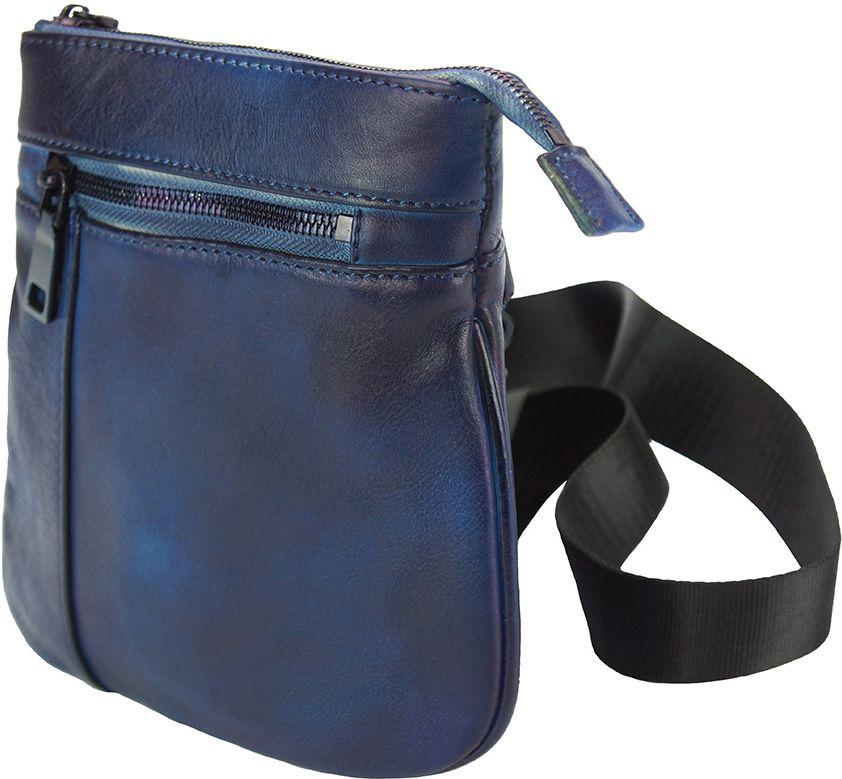 2ca6414cd4 Τσαντακι Ωμου Δερματινο Frontiniano Firenze Leather 68020 Σκουρο Μπλε