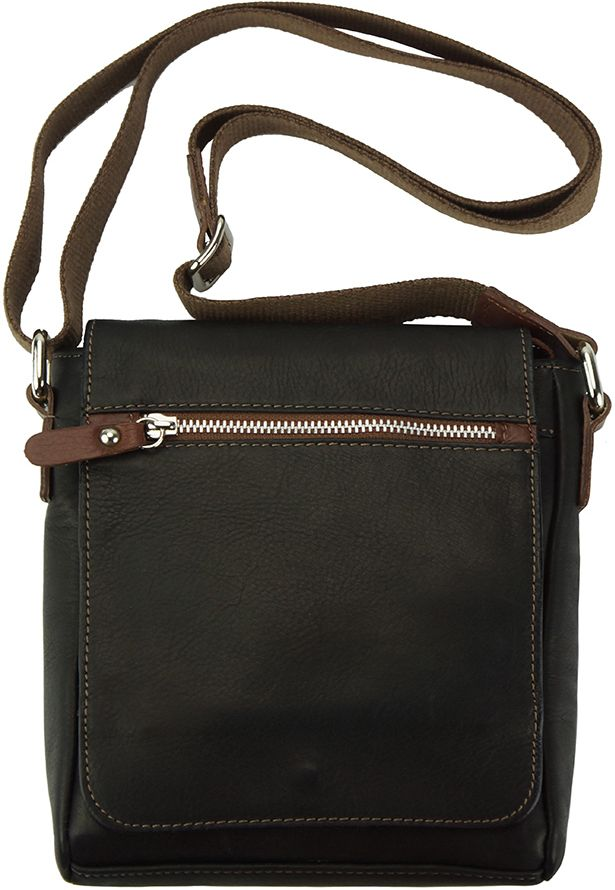 8789da67b6 GrabitApp  Δερμάτινο Τσαντάκι Ωμου Camillo Firenze Leather B034 Μαύρο Καφε