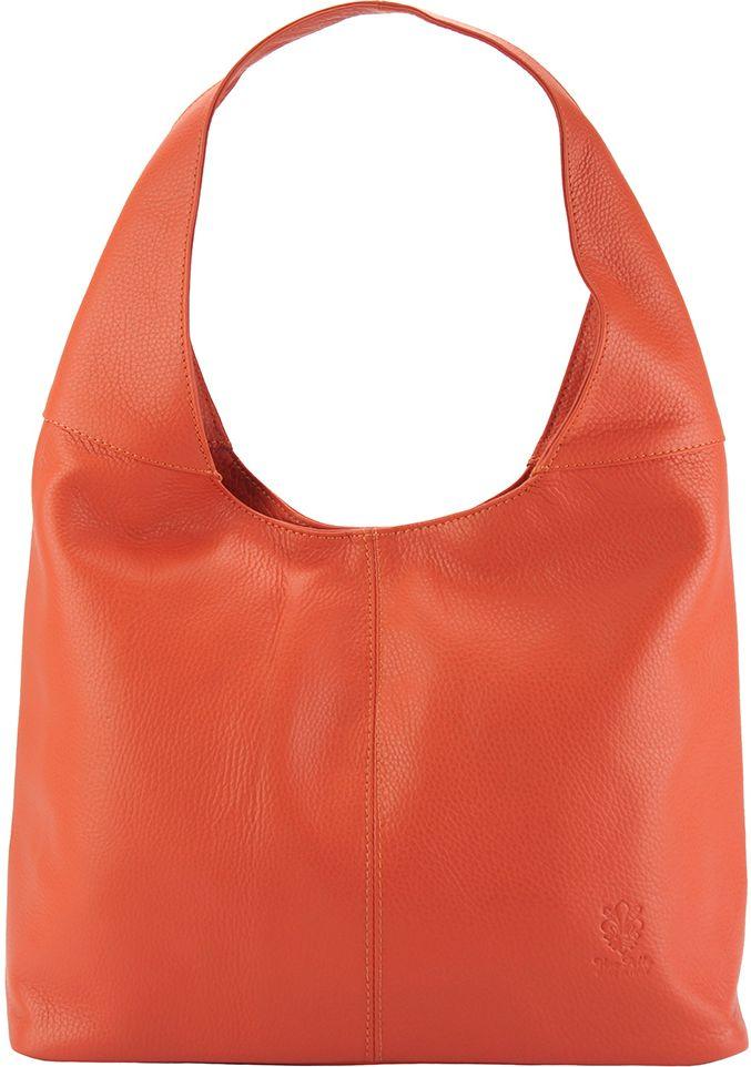 Δερματινη Γυναικεια Τσαντα Ωμου The Caissa Firenze Leather 0834 Πορτοκαλί γυναίκα   τσάντες ώμου   χειρός