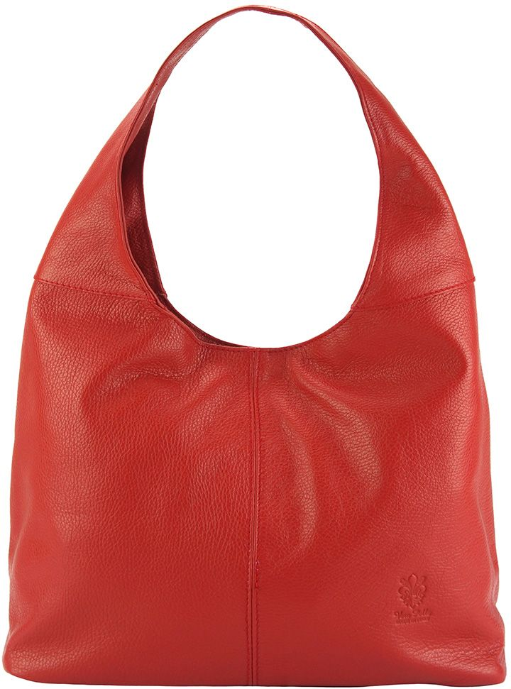 Δερματινη Γυναικεια Τσαντα Ωμου The Caissa Firenze Leather 0834 Κόκκινο
