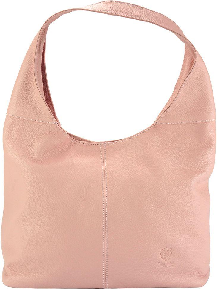 Δερματινη Γυναικεια Τσαντα Ωμου The Caissa Firenze Leather 0834 Ροζ γυναίκα   τσάντες ώμου   χειρός