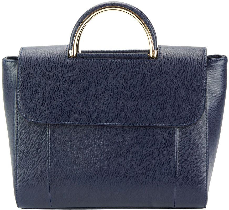 97f5d454b0 Δερμάτινη Τσάντα Χειρός Melissa Firenze Leather 307 Σκουρο Μπλε