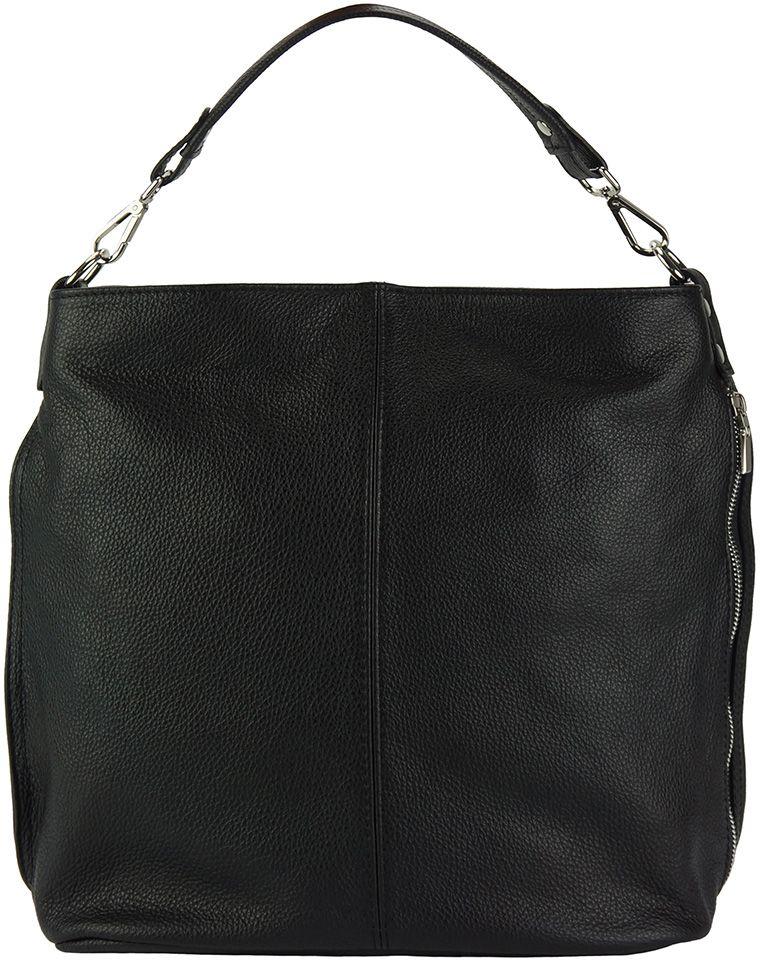 Δερματινη Τσαντα Ωμου Hobo The Donata Firenze Leather 9116 Μαύρο γυναίκα   τσάντες ώμου   χειρός