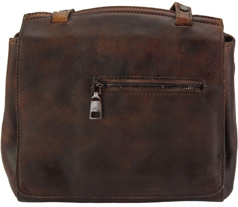 Δερματινη Τσαντα Ταχυδρομου Livio Firenze Leather 68065 Σκουρο Καφε γυναίκα   τσάντες ώμου   χειρός