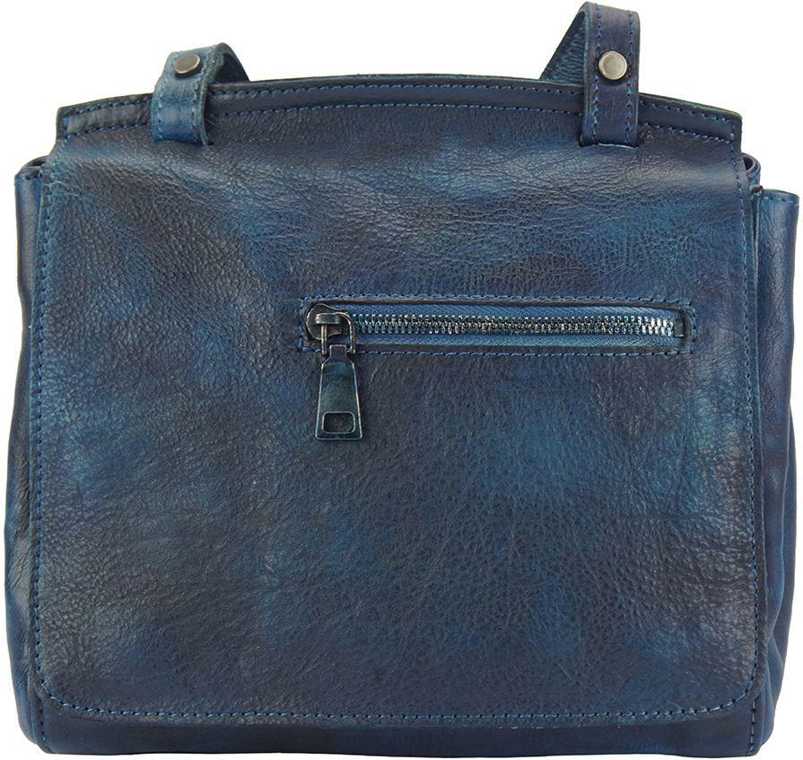 Δερματινη Τσαντα Ταχυδρομου Livio Firenze Leather 68065 Σκουρο Μπλε γυναίκα   τσάντες ώμου   χειρός