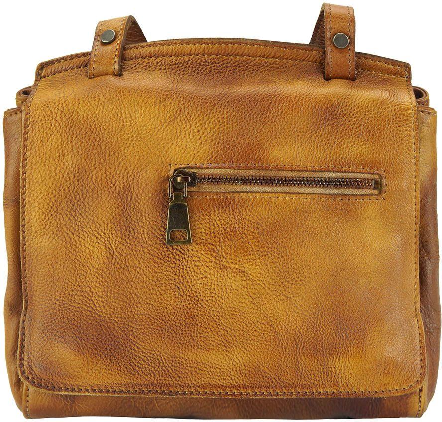 Δερματινη Τσαντα Ταχυδρομου Livio Firenze Leather 68065 Μπεζ γυναίκα   τσάντες ώμου   χειρός