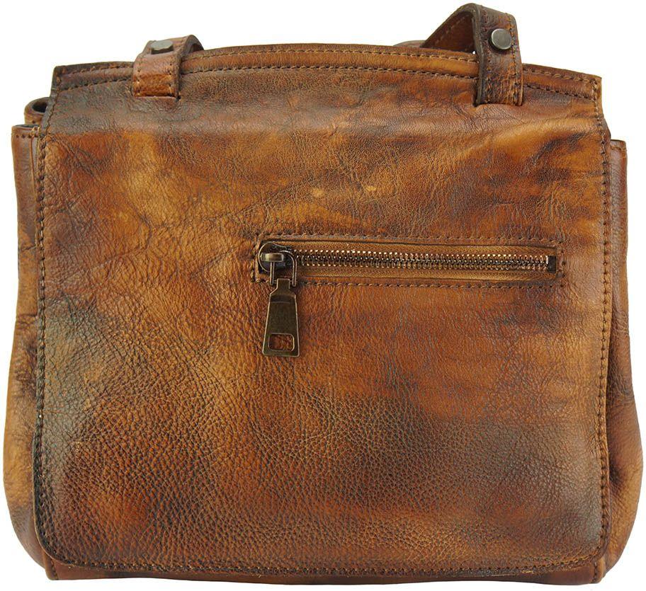 Δερματινη Τσαντα Ταχυδρομου Livio Firenze Leather 68065 Καφε γυναίκα   τσάντες ώμου   χειρός