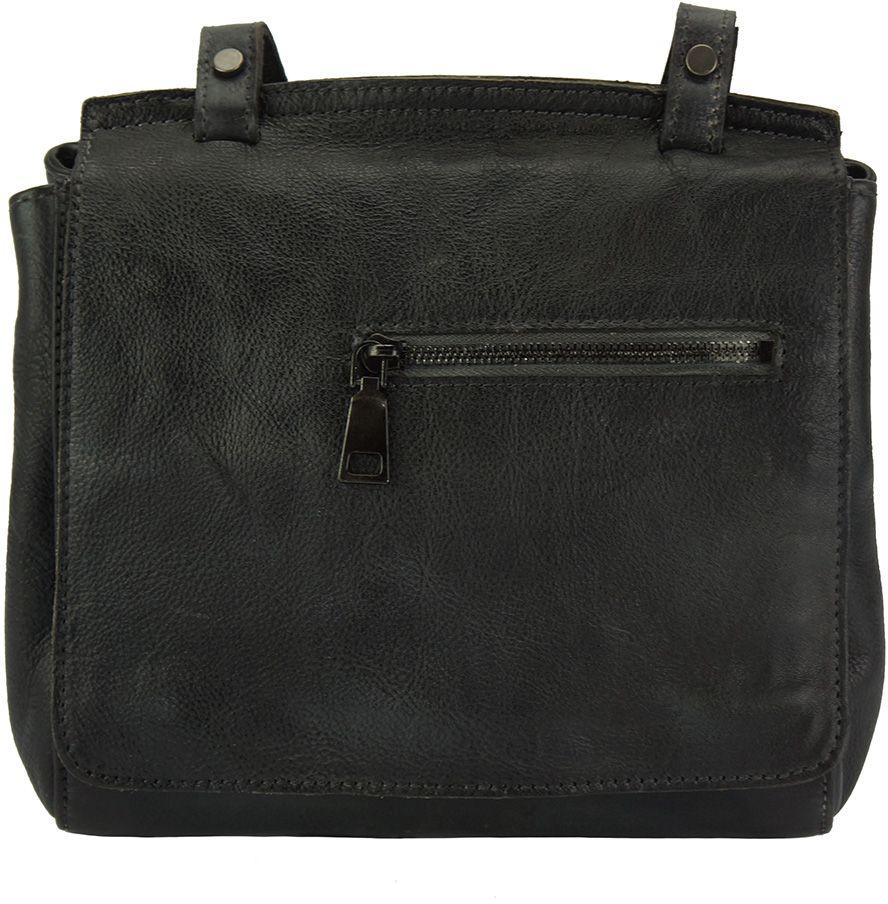 Δερματινη Τσαντα Ταχυδρομου Livio Firenze Leather 68065 Μαύρο γυναίκα   τσάντες ώμου   χειρός