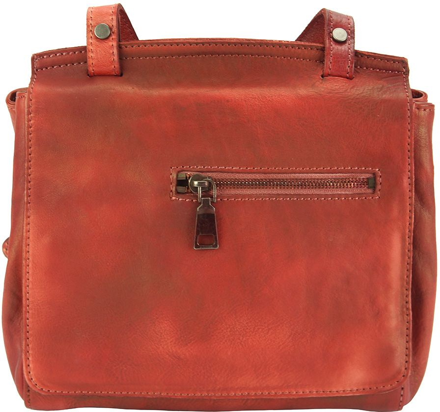 Δερματινη Τσαντα Ταχυδρομου Livio Firenze Leather 68065 Κόκκινο γυναίκα   τσάντες ώμου   χειρός