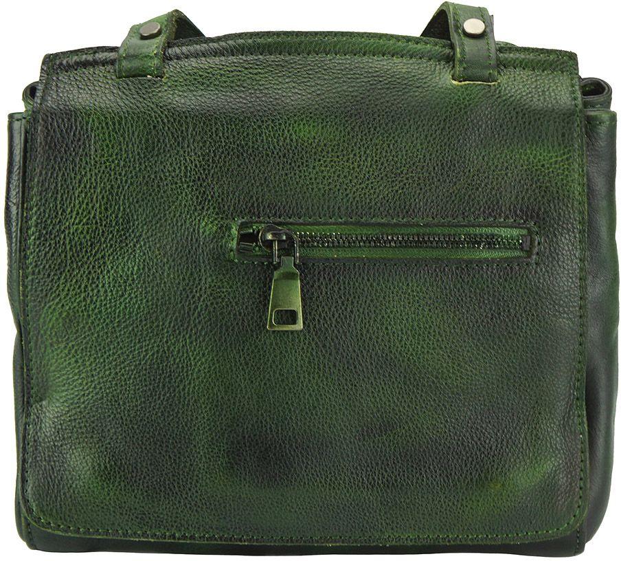 Δερματινη Τσαντα Ταχυδρομου Livio Firenze Leather 68065 Σκουρο Πρασινο γυναίκα   τσάντες ώμου   χειρός