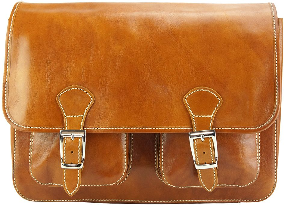9898160be9 Δερματινη Τσαντα Ταχυδρομου Pamela Firenze Leather 7609 Μπεζ