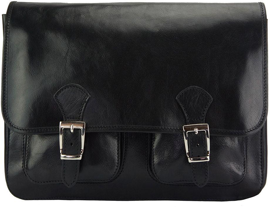 Δερματινη Τσαντα Ταχυδρομου Pamela Firenze Leather 7609 Μαύρο γυναίκα   τσάντες ώμου   χειρός