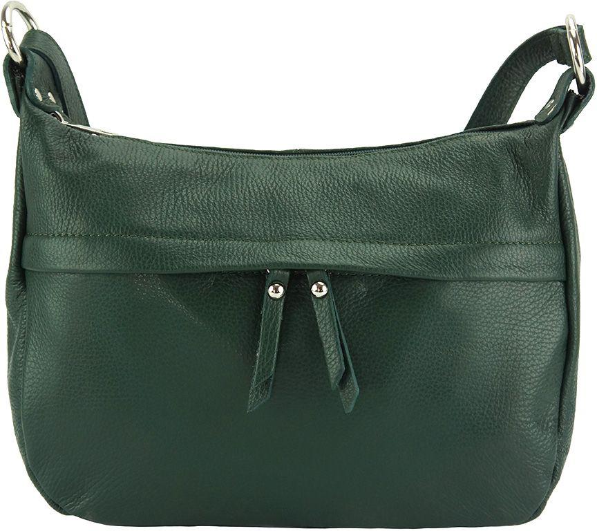 d987d0616d Δερμάτινη Τσάντα Ωμου Delizia Firenze Leather 9112 Σκουρο Πρασινο