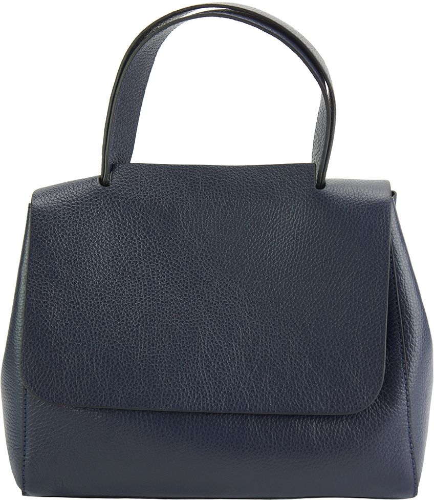2a1248ddfe Δερματινη Τσαντα Χειρος Gaia Firenze Leather 9111 Σκουρο Μπλε
